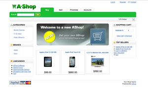 Green commerce theme